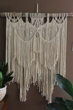 Extra Large Macrame Wall Hanging / Wedding by #fallandFOUND on Etsy