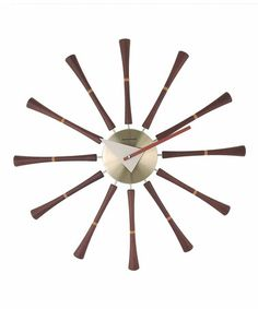 Wood & Metal Spindle Wall Clock #zulily #zulilyfinds