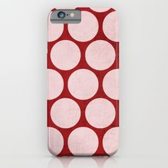 red and white polka dots iPhone & iPod Case