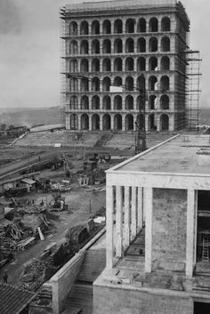 Giovanni Guerrini, Ernesto Bruno Lapadula and Mario Romano. Palazzo della Civiltà Italiana, 1943