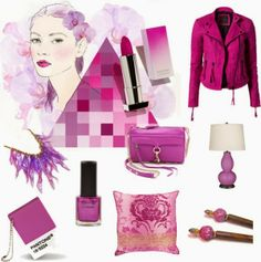 Trend Spotting Radiant Orchid in Design, Home Decor, Art, Accessories, Style and Fashion. Featured: Pantone Color of the Year 2014 Radiant Orchid Color Palettes in fashion