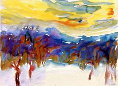 Winter Landscape, Emil Nolde c. 1907