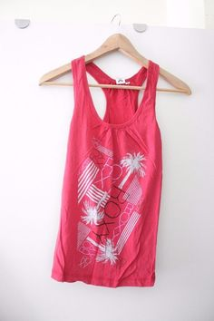 a6933a6c ROXY red vest top size XS unusual racer back funky #ROXY #top Funky Outfits