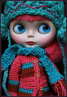 beautiful Blythe in gorgeous winter outfit!