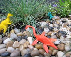 My little guy and I made this cool dinosaur garden… who says miniature gardens always have fairies? (It's all dinosaurs and super heroes at our place.