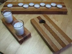 Holiday Presents: wine bottle balancers, candle holders, menorah - by AaronK @ LumberJocks.com ~ woodworking community