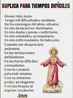Catholic Prayer For Healing, Catholic Prayers In Spanish, Spiritual Prayers, Spiritual Messages, Prayers For Healing, Night Prayer, God Prayer, Daily Prayer, Prayer Scriptures