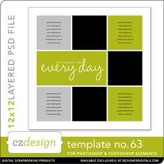 Cathy Zielske's Layered Template No. 063 - Digital Scrapbooking Templates