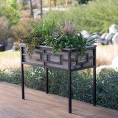 Belham Living Augusta Wood and Metal Raised Planter - YHD160603006