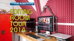 Editing Room Tour 2014 Edition [ http://www.youtube.com/geekanoids ]