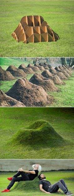 The TERRA grass chair by Studio Nucleo is a piece of organic furniture that . - UPCYCLING IDEAS - The TERRA grass chair by Studio Nucleo is a piece of organic furniture that … - Diy Garden Furniture, Upcycled Furniture, Distressed Furniture, Furniture Ideas, Street Furniture, Antique Furniture, Furniture Design, Furniture Stores, Outdoor Furniture