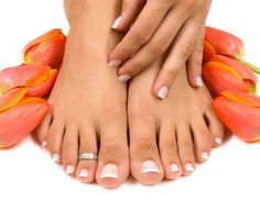 Simple but pretty French pedicure for your wedding day.