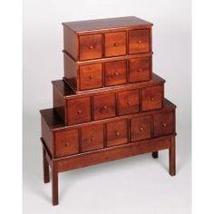 CD Cabinet - Apothecary 375 CD Storage, Wooden CD Rack, CD Storage Drawers - StacksAndStacks.com.