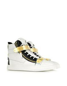 Giuseppe Zanotti Luxry Sneakers | https://www.deloresaireydesigns.com/1/post/2014/03/bold-dandy-sweet-dainty-footwear-for-men-and-women-ss14.html |#DesignersPlus