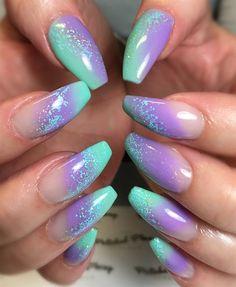 Day Matte, Gloss & Tribal Nail Art – Your Nails – Ombre Nails – Accent Nails Purple Ombre Nails, Aqua Nails, Purple Nail Art, Gel Nails, Coffin Nails, Fingernails Painted, Nail Polish, Ombre Lips, Toenails