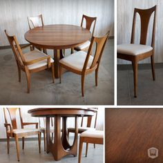 refinished & recovered mid-century, modern table set hutch has curated in Omaha, NE. www.facebook.com/hutchmodern
