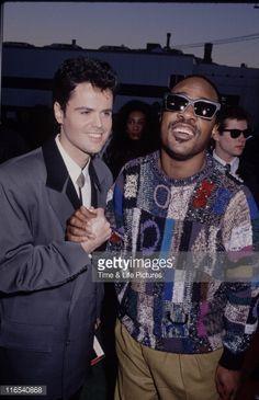Donny Osmond & his Fave idol Blind Singer Stevie Wonder