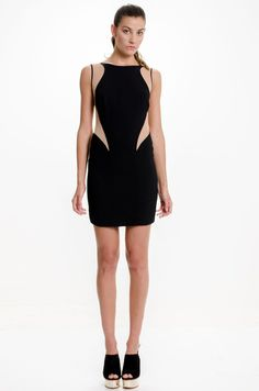 Vestido Corto Stella - Negro en DeluxeBuys!