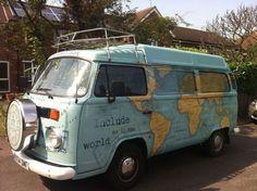 Travel the Globe World Tour – in a vintage VW bus - Van Life Bus Camper, Volkswagen Bus, Volkswagen Beetles, Volkswagon Van, Vintage Campers, Vw Vintage, Vintage Travel, Vintage Caravans, Van Life