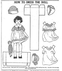 Twinkle Tots paper Doll, 6 Oct 1922 |  Mostly Paper Dolls