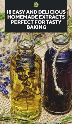 18 Easy and Delicious Homemade Extracts Perfect for Tasty Baking Orange Extract Recipes, Homemade Vanilla Extract, Homemade Spices, Homemade Seasonings, Dressings, Infused Oils, Canning Recipes, Smoker Recipes, Rv Storage