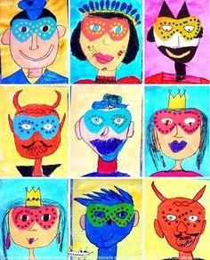 caras y caretas de Carnaval: http://www.manualidadesinfantiles.org/caras-y-caretas-de-carnaval/