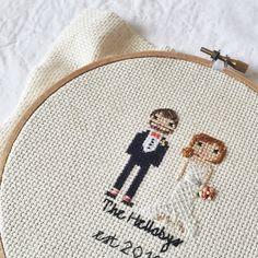Etsy StitchinGood Wedding Portrait Crosstitch