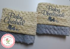 Custom designed personalized baby blankets and other baby products by www.sun7designs.com