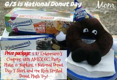 "The sweetest holiday of them all is here - Friday, June 3rd is National Donut Day and it's time to get this party started! For every consumer (fan or not) that enters the Facebook ""Win Free Donuts for a Year"" sweepstakes, $1 will be donated to The..."