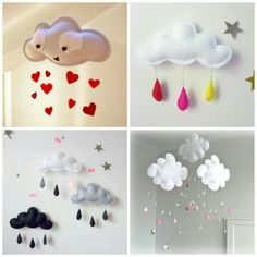 Make a cloud mobile for #babyroom