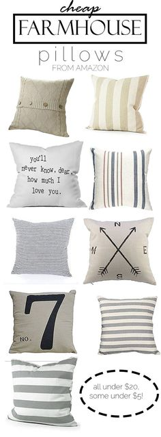 Great site to find cute and cheap farmhouse pillows! Farmhouse decor and decorating ideas Great site to find cute and cheap farmhouse pillows! Farmhouse decor and decorating ideas Diy Home Decor Rustic, Unique Home Decor, Cheap Home Decor, Country Decor, Country Chic, Modern Decor, French Country, Shabby Chic Bedrooms, Shabby Chic Homes