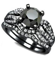 Black gold Black Diamond ring!! TOTALLY IN LOVE!!!!