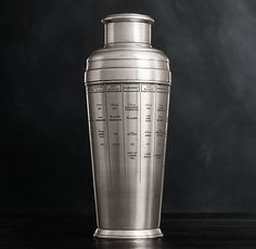 Vintage Hotel Recipe Cocktail Shaker