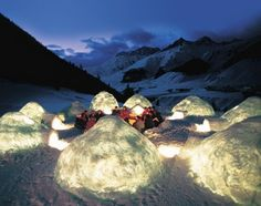 An igloo to stay in - cool!