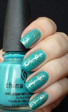 AllYouDesire: China Glaze Custom Kicks with Konad