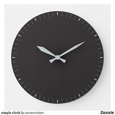 Shop simple clock created by univercitizen. Clock, Indoor, Display, Simple, Artwork, Prints, Home Decor, Watch, Interior