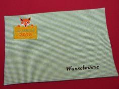 Platzdeckchen - Platzset Schulkind mit Wunschnamen - ein Designerstück von Taeschli-und-co bei DaWanda