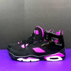 Air Jordan Flight Club 91 Shoes Sz 9.5 Youth Women s 11 Black Fuchsia Pink  NEW  7a845bd5d