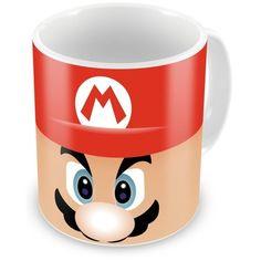 Caneca Porcelana Personalizada Mário Super Mário Bros Face