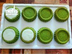 Karpuz Şeklinde Mini Tart Kekler