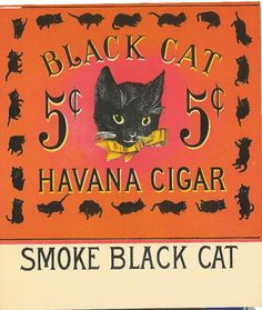 BLACK CAT - Original Antique Cigar Box Label http://www.cerebro.com/store/pc/viewPrd.asp?idproduct=222idcategory=0