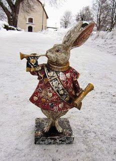 """Милые сердцу штучки: """"Белый кролик-герольд от Джона Тенниела... и несколько вариаций на тему"""""""