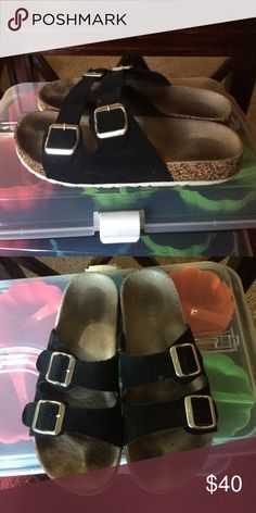 Birkenstock dupe! These are a dupe of the Birkenstock sandal, super comfortable and cute! Birkenstock Shoes Sandals