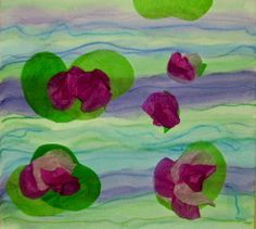 monet s water lilies | Monet's Water Lily project for kids | Yes, I teach art. A lot.