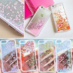 COQUE HOUSSE ETUI Bling Glitter Heart Hard Liquide Case Pour Samsung/iPhone