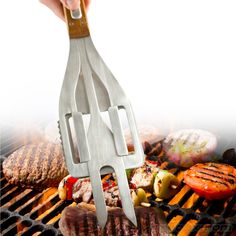 Stake BBQ Tool - Barbecue season can be fun, but what is not fun is taking out all of those grilling utensils that were stored away during winter; the Stake . Intelligent Design, Barbecue Design, Grill Accessories, Best Bbq, Bbq Tools, Cooking Utensils, Bbq Grill, Looks Cool, Kitchen Gadgets