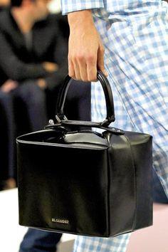 jil sander box bag s/s 12...  kind of reminds me of an updated 'doctor bag'