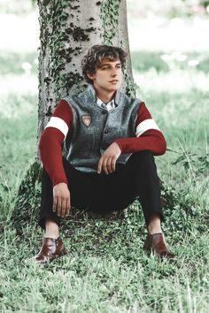 Hipster, Blazer, Style, Fashion, Crests, Mandarin Collar, Scale Model, Grey, Breien