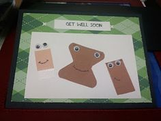 Simple, homemade and adorable Get Well card.