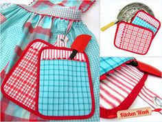 Combo Hot Pad-Oven Mitt Vintage Style | Sew4Home